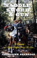 "alt=""The front cover of Lochlainn Seabrook's book Saddle. Sword, and Gun: A Biography of Nathan Bedford Forrest for Teens"""
