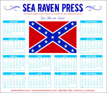 Confederate Battle Flag (1) Yearly Wall Calendar from Sea Raven Press