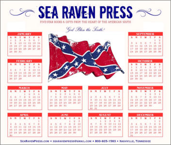 Confederate Battle Flag (2) Yearly Wall Calendar from Sea Raven Press