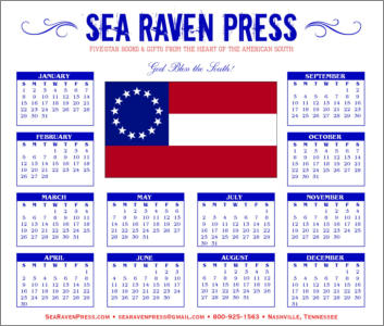 First National C.S. Flag Yearly Wall Calendar from Sea Raven Press