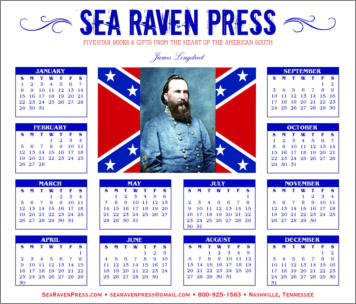 James Longstreet Yearly Wall Calendar from Sea Raven Press