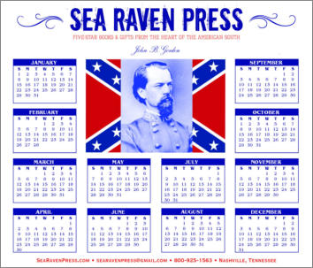 John B. Gordon Yearly Wall Calendar from Sea Raven Press