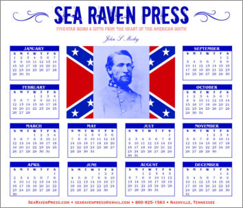 John S. Mosby Yearly Wall Calendar from Sea Raven Press