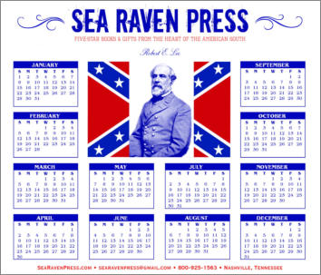 Robert E. Lee Yearly Wall Calendar from Sea Raven Press