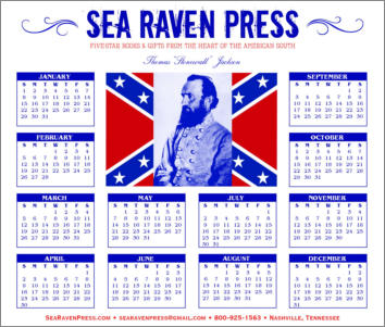 Stonewall Jackson Yearly Wall Calendar from Sea Raven Press