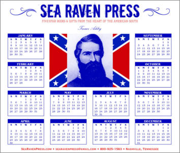 Turner Ashby Yearly Wall Calendar from Sea Raven Press