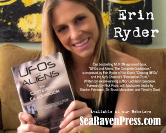 "Erin Ryder of ""Destination Truth"" Loves Our Book ""UFOs and Aliens""!"